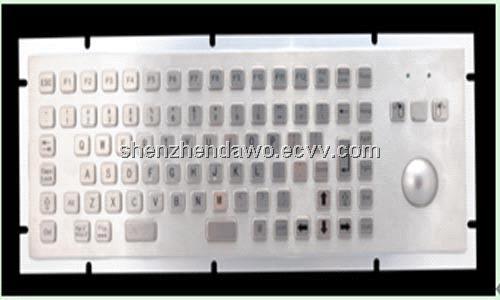 kiosk/industrial Metal PC Keyboard with trackball D-8606