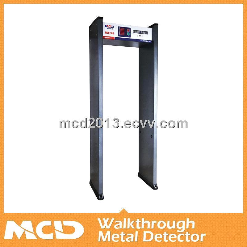 CE passed walk through Metal Detector /6zones Door Frame Metal ...
