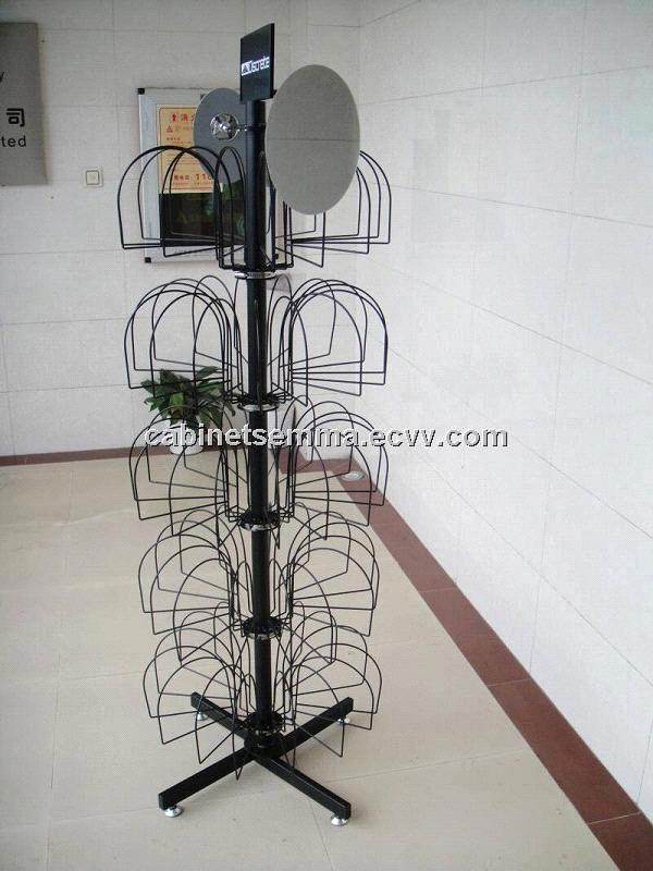 Floor Standing Metal Hat Display Floor Display Retail