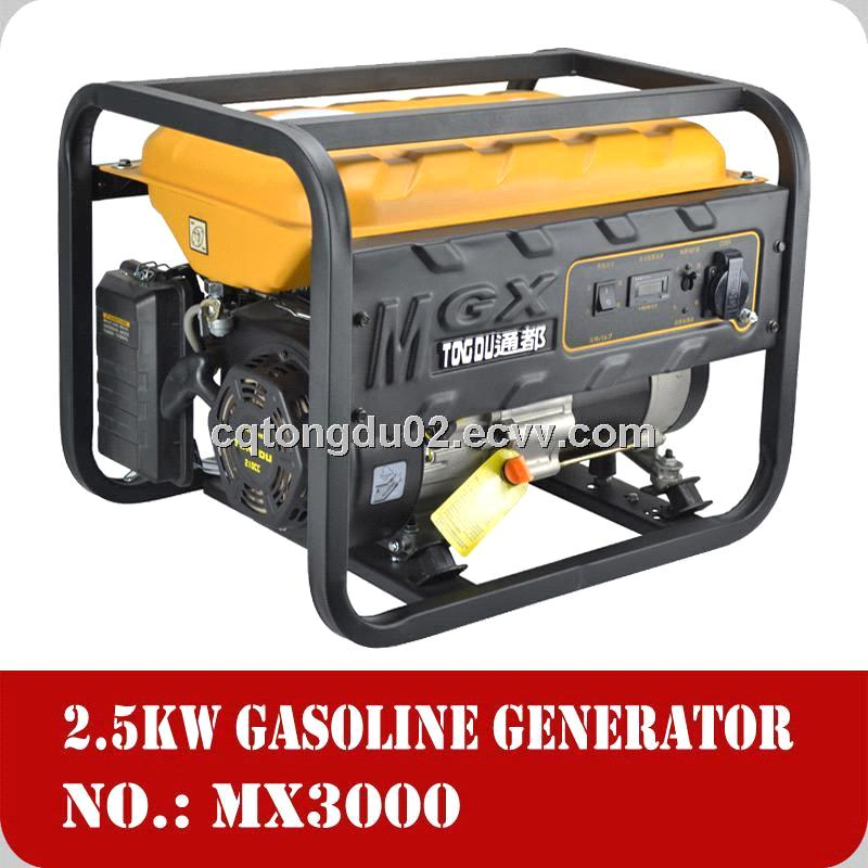 High quality ISO-certified 2.5kw natural gas generator 210cc 170F engine Chongqing made