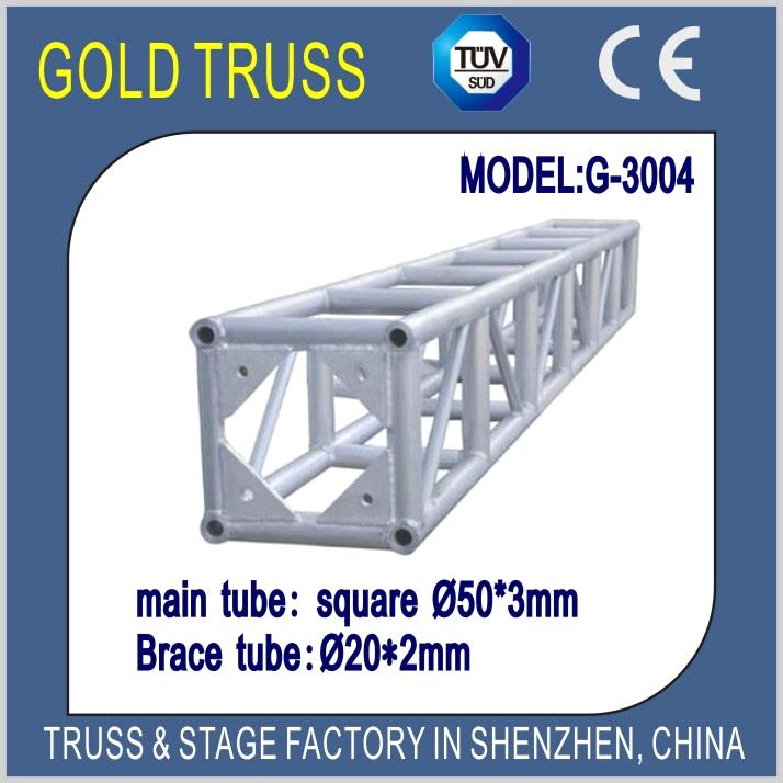 300x300mm Aluminum Bolt Truss for Lighting Truss, Sound Truss & LED Screen  Roof Truss System