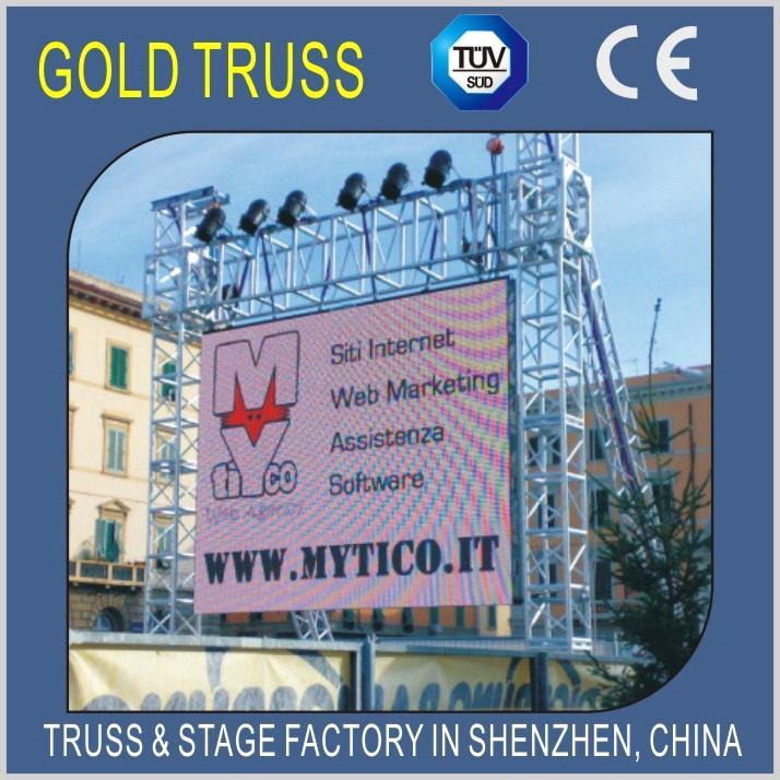 350x350mm Aluminum Bolt Truss for Event Stage Truss System,Aluminium Roof  Truss,Lift Truss System
