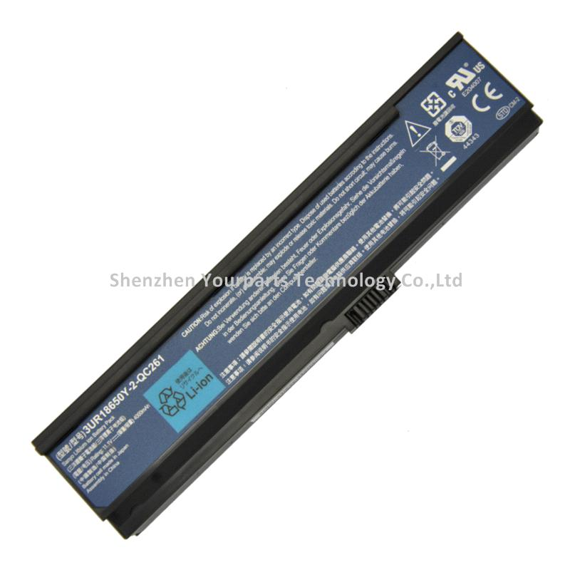 3UR18650Y-2-QC261 external battery For Acer Aspire 5570Z 3680 3050 5570 5050 TravelMate 3262 Laptop