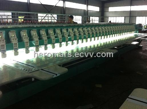 3 needle 43 head flat embroidery machine