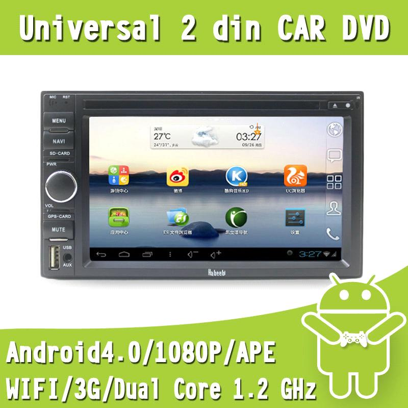 Double Din Car DVD Player video Stereo with Android4.0 GPS Navigation 1G DDR 8G Card Freeshiping