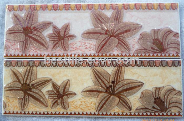 Glitter Powder Ceramic Border Tiles