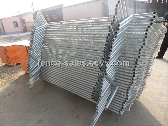 Heavy Duty Crowd Control Steel Barricade - Hot Dipped Galvanized Finish