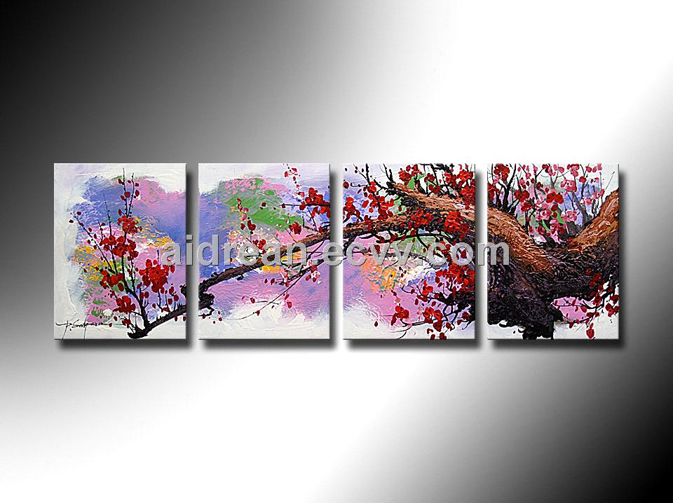 High Quality Flower Oil Painting On Canvas