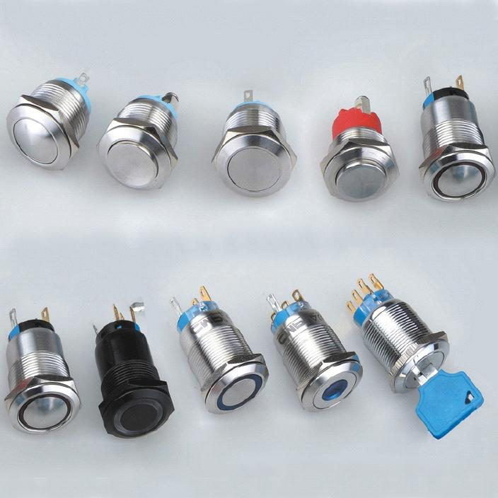 IP 68 Metal Push Button Switch(Latch on off Push Button Switch)