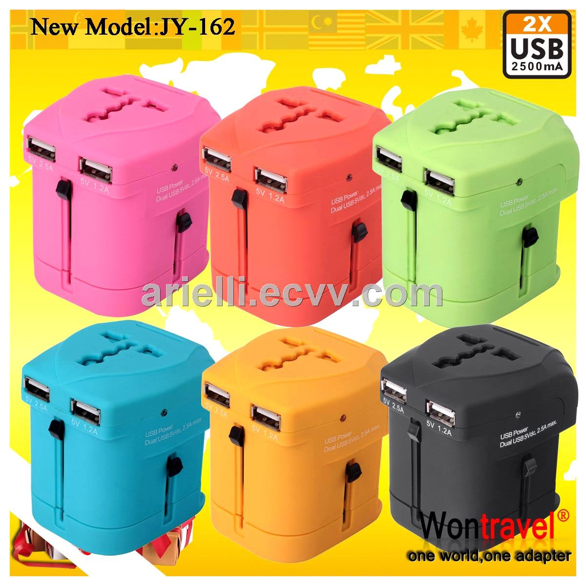 JY-162 5V 2500mA electric wireless travel adapter for business gift