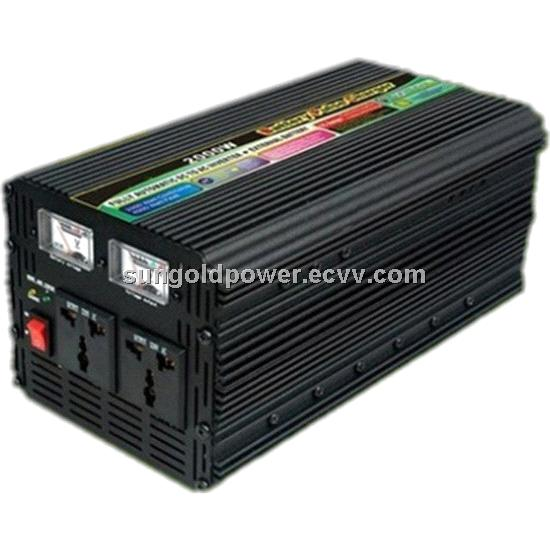 Sun Gold Power 1500W Peak 3000W DC 12V/24V Modified Wave Power Inverter With Charger Voltage Display
