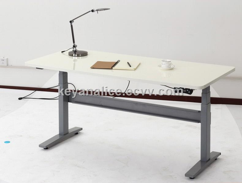 Electric Height Adjustable Sit To Stand Lifting Office Desk SJ02E B