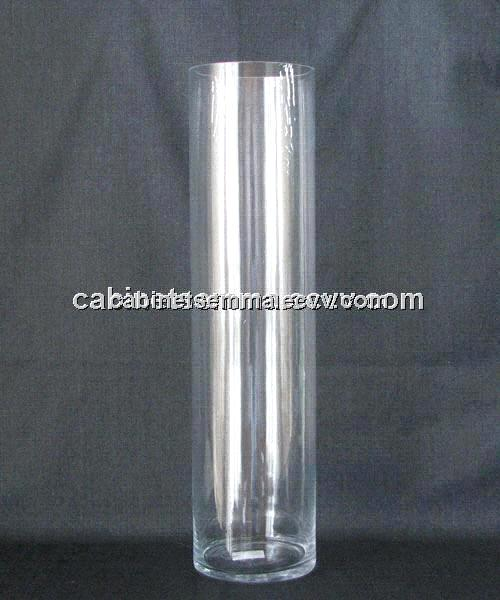 Clear Acrylic Cylinder Vase High Polished Lucite Flower 180 380mm