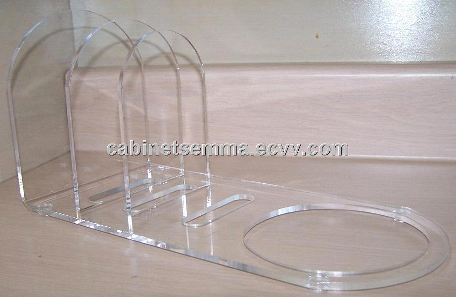 Dish Rack Dinnerware Displayer Clear Acrylic Plate Stand 12u0027u0027 Long : acrylic plate stands for display - pezcame.com