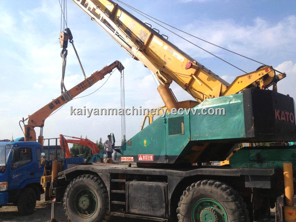 Used Rough Terrain Crane, Kato KR25H, Kato 25T, Original Paint