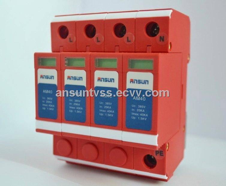 380V 40KA three phase AC power surge protector for power distribution system