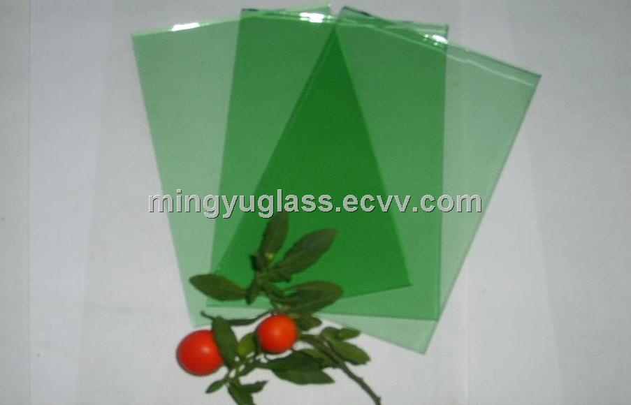 5mmF-green laminated glass with ISO9001