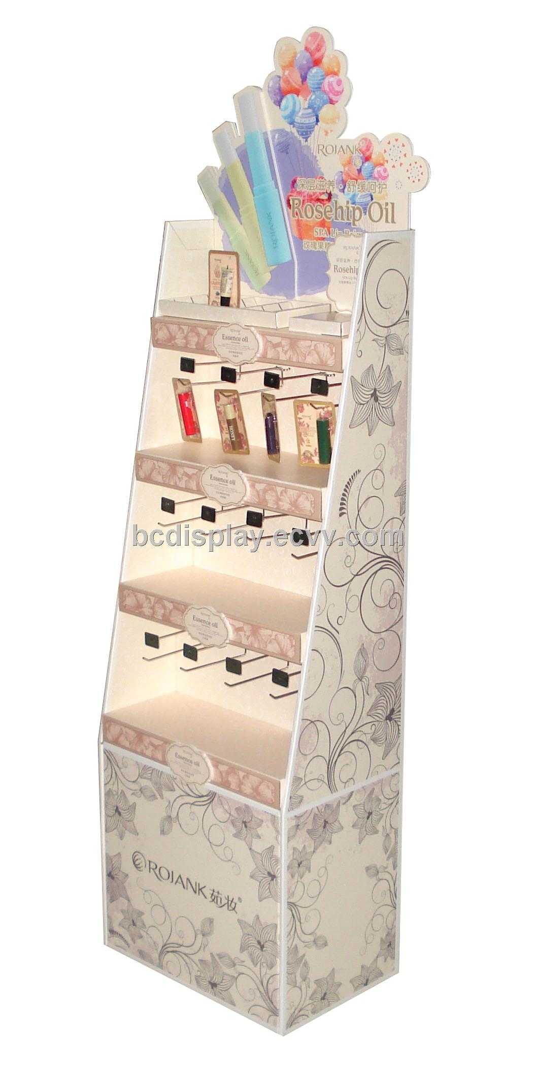 Beauty Products Hooks Cardboard Stand Shelf Purchasing Souring