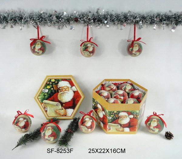 Decoupage Christmas ball/Polyfoam Christmas ball/DIY