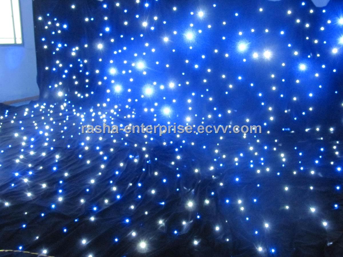 Indoor Flexible Rgb Led Star Curtain For Stage Light Disco