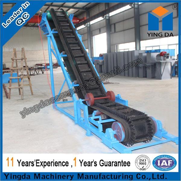 Large angle skirt board belt conveyor