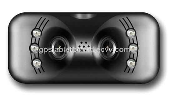 New Dual Lens 230 degree Super wide angle Car Black box DVR-018