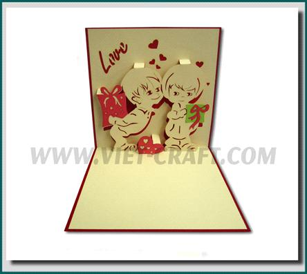 pop up 3d love card handmade pop up greeting card purchasing