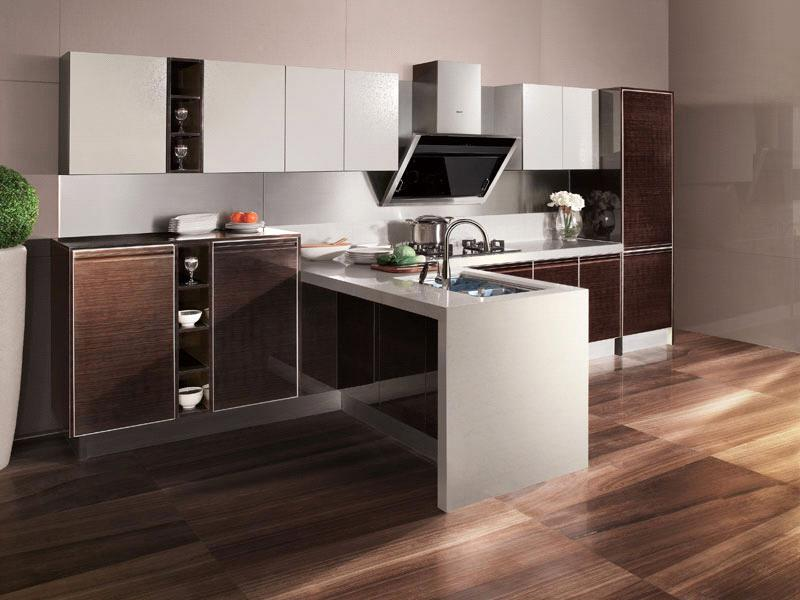 high gloss pvc series kitchen cabinet
