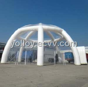 Large Clear Roof Inflatable Igloo Tent with Tunnel Entrance & Large Clear Roof Inflatable Igloo Tent with Tunnel Entrance ...