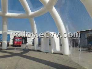 & Large Clear Roof Inflatable Igloo Tent with Tunnel Entrance ...