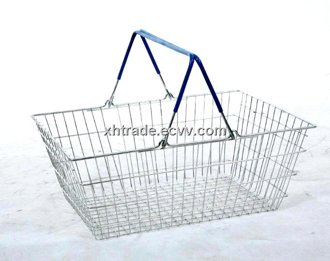 Shopping Basket, Supermarket Basket, Iron Wire Basket