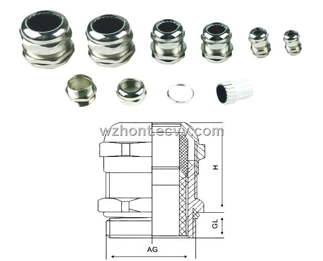 Brass Cable Gland,Metal Cable Gland, ,nickel plated;