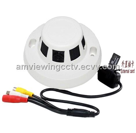 Smoke Detector Security Cctv Camera External Tf Card For Local