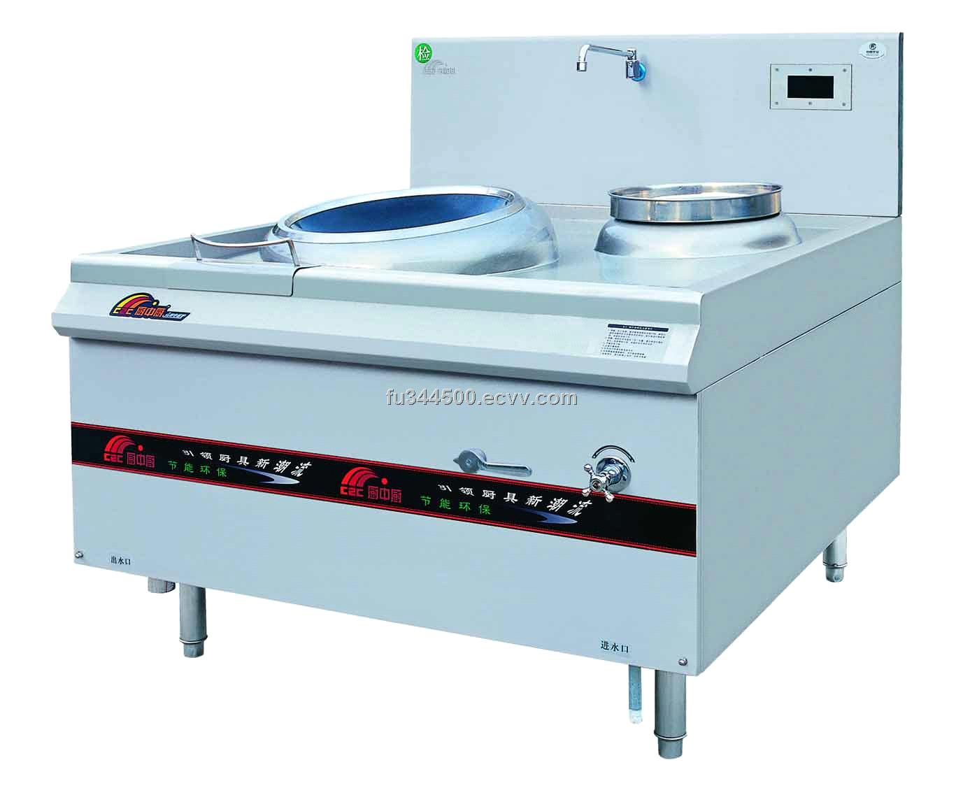 Single ring induction wok with rear pot purchasing, souring agent ...