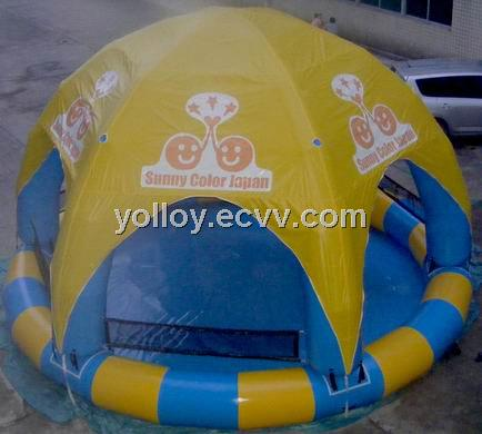 Huge Giant Inflatable Pool with Canopy, Swimming Pool with Sunshade