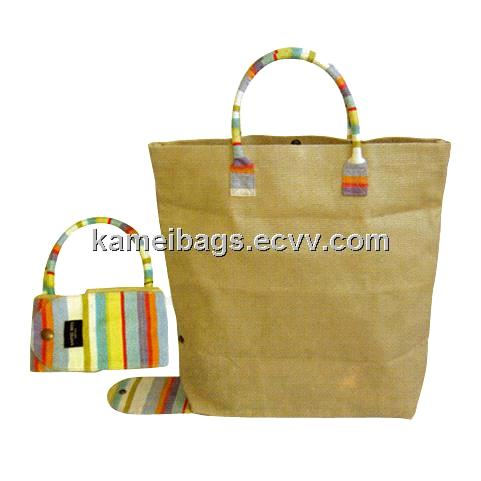 Canvas Shopping Bag (KM-CAB0005), Folding Canvas Bags, Canvas Tote Bags, Promotion Bag