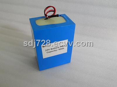 24V/40AH rechargeable battery pack for solar panel of energy storage