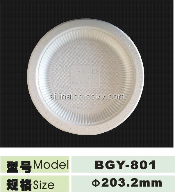 Biodegradable corn starch dispostable 8inch plate from China