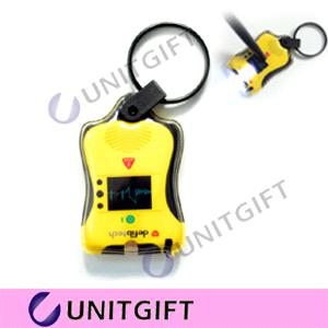 Hot Sale Promotion Gifts- PVC Key Chain Light