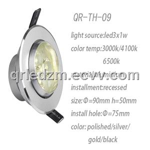 Led ceiling lamps led ceiling light 3w polished