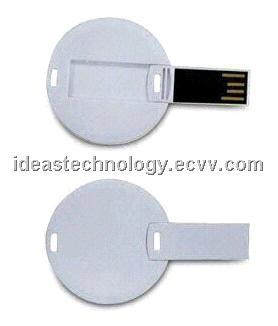 Mini Round Card USB Flash Drive