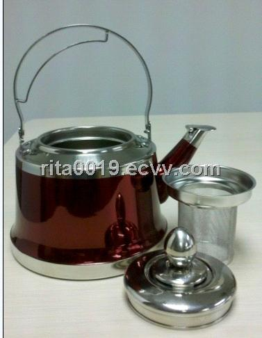 whistling kettle with color