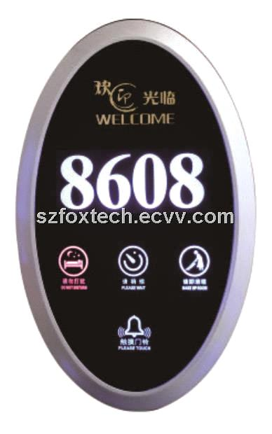 Luxury Hotel Electronic Doorplate, Touch Doorbell Switch with LED Room Number Display