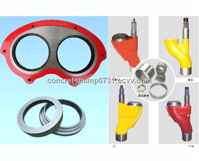 Manufacture Sany,Zoomlion,Putzmeister,Schwing,Cifa,Sermac  concrete pump  parts wear plate, S valve