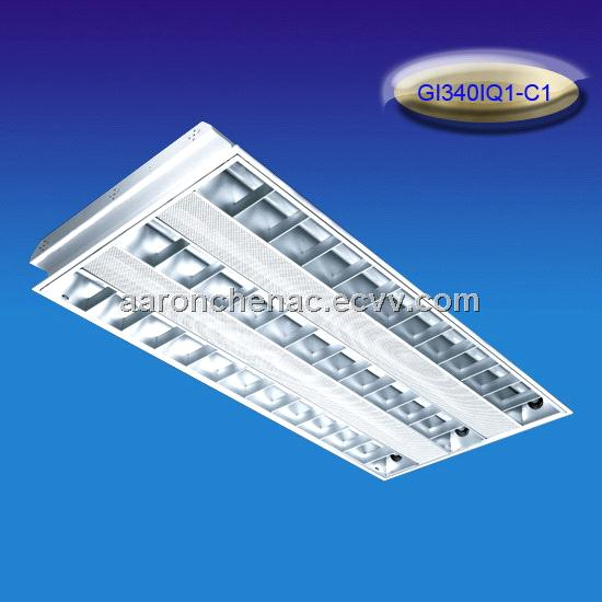 Embed grill lamp tray for T8/T10 tube C type