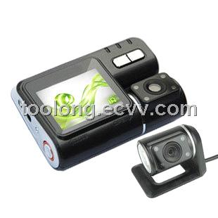H.264 HDMI G-sensor 4IR Night Vision 2.0inch Dual Cam GPS Car DVR