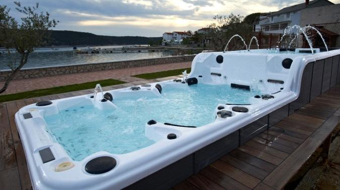 Hot Sale Balboa System Ass Massage Hot Tub With Tv Sr859 Purchasing Souring Agent
