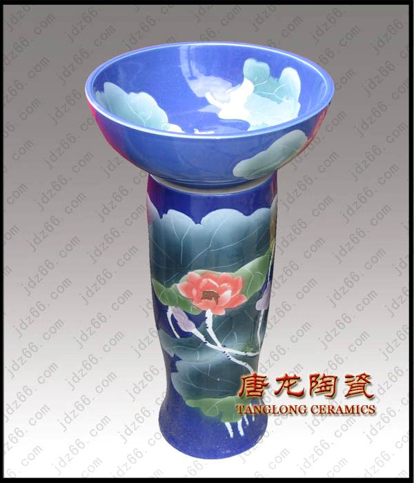 Jingdezhen porcelain basin for home or garden decoraiton