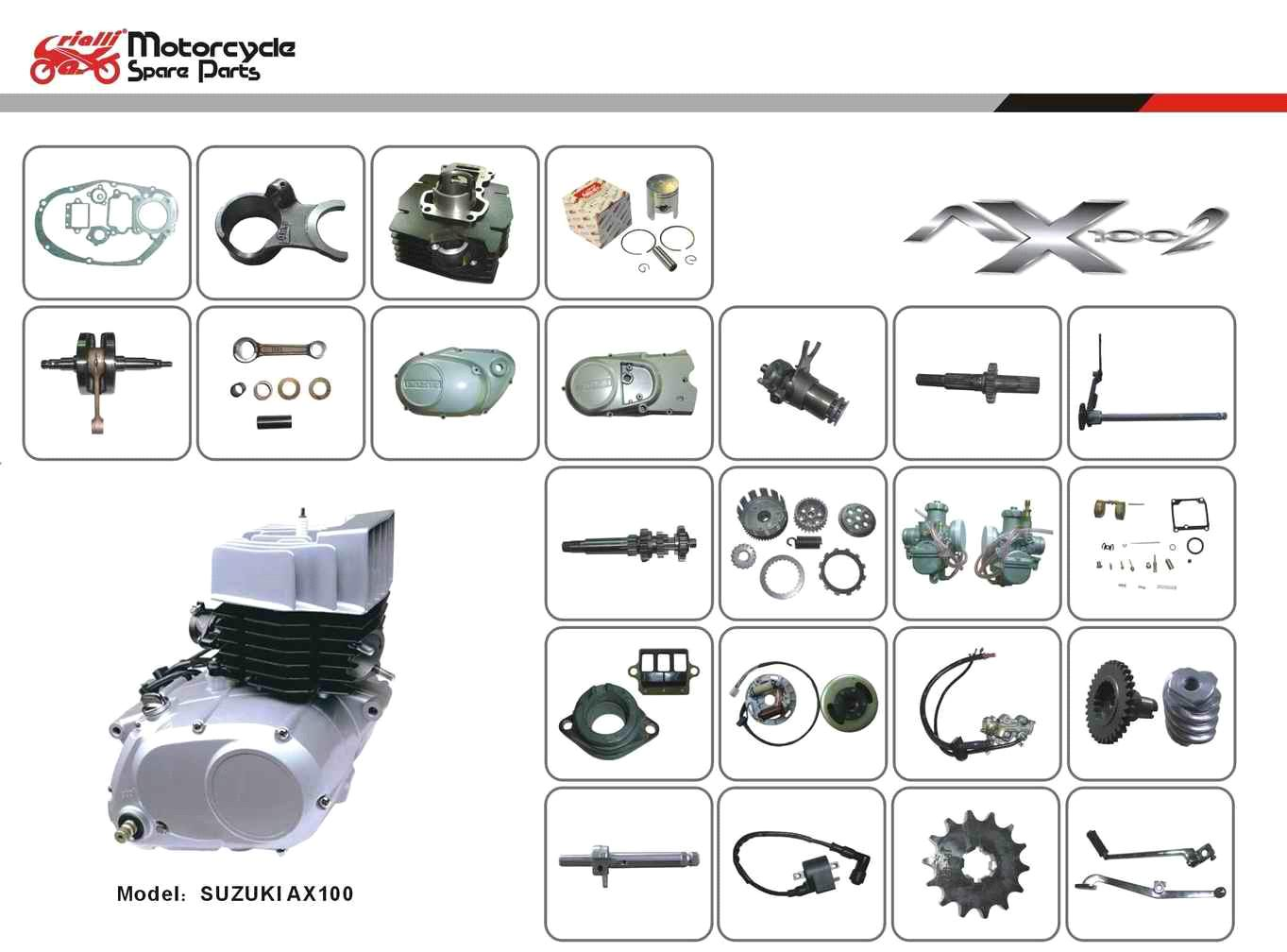 motorcycle suzuki ax 100 engine from china manufacturer. Black Bedroom Furniture Sets. Home Design Ideas