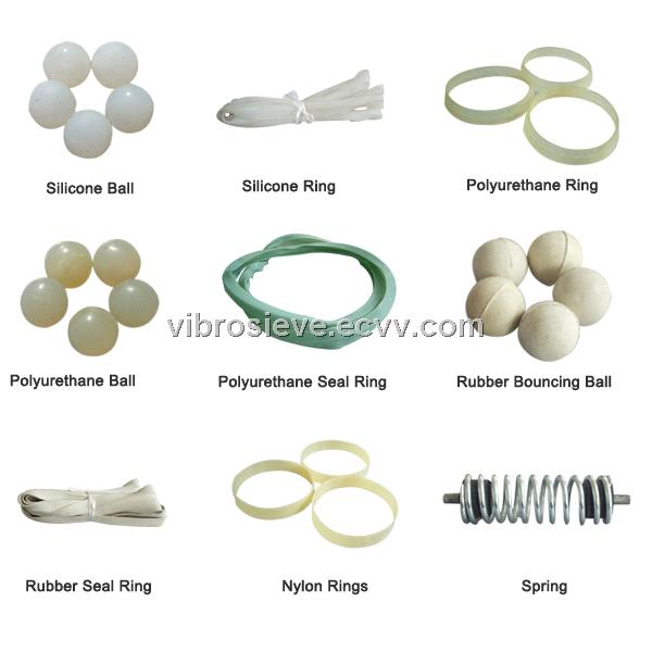 Sealing Rings, Bouncing Balls, Springs for Vibrating Sieve